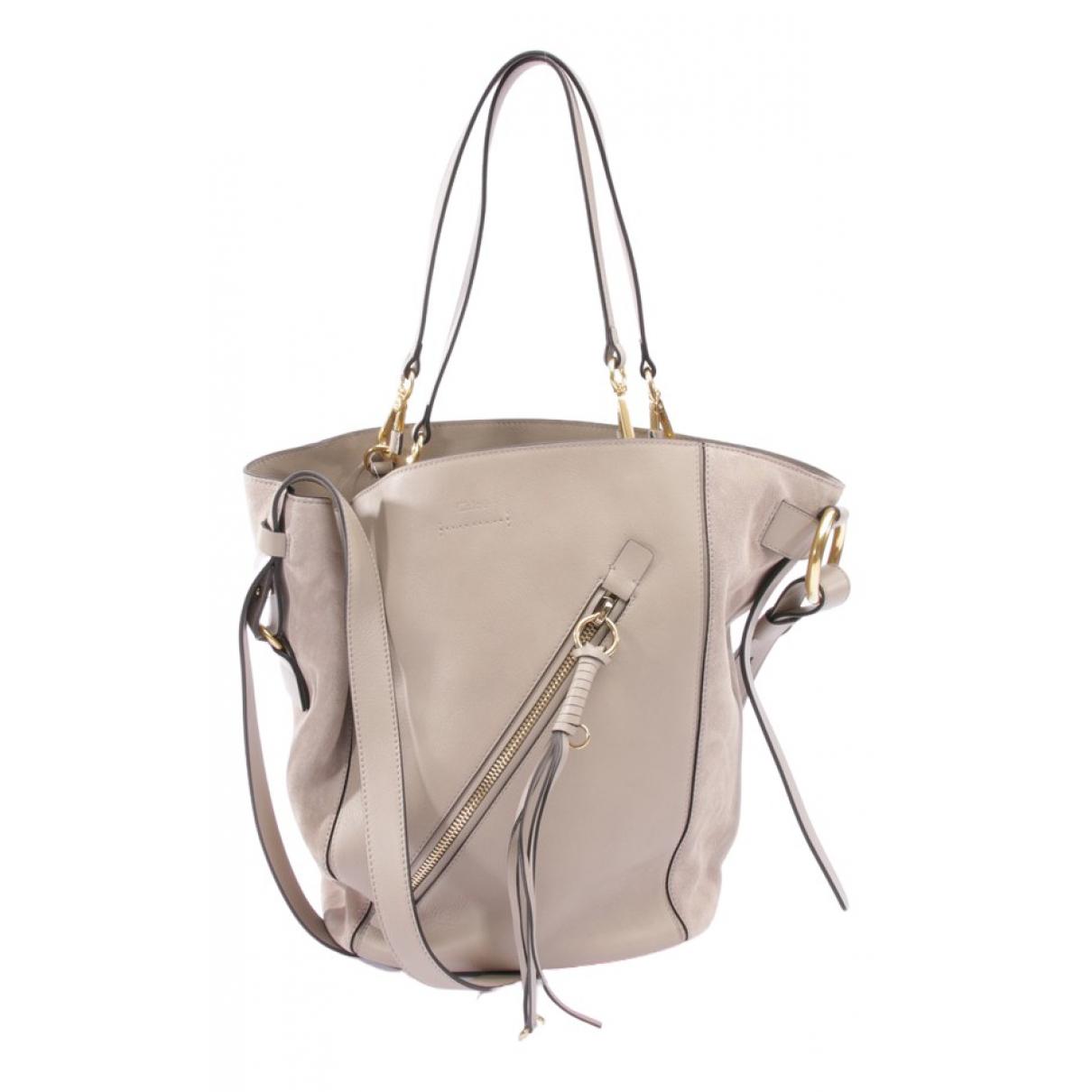 Chloé \N Beige Leather handbag for Women \N