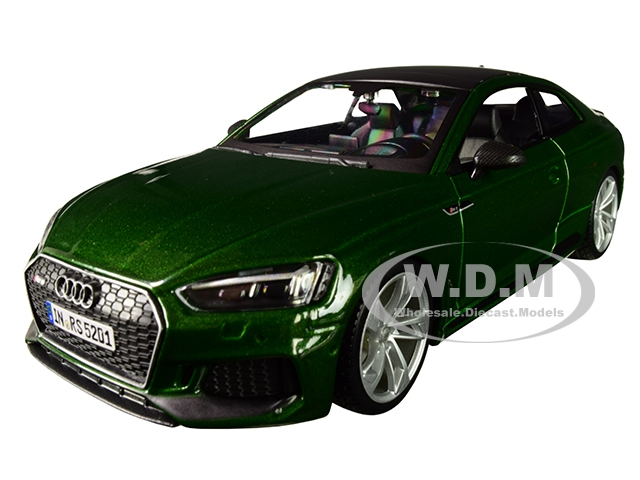 Audi RS 5 Coupe Green Metallic with Black Top 1/24 Diecast Model Car by Bburago