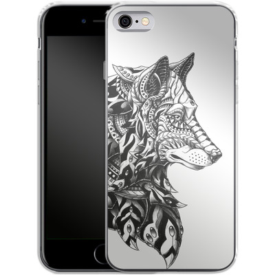 Apple iPhone 6 Silikon Handyhuelle - Wolf Profile von BIOWORKZ