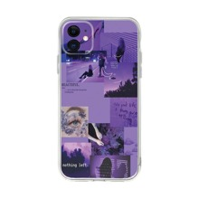 Figure & Letter Graphic iPhone Case