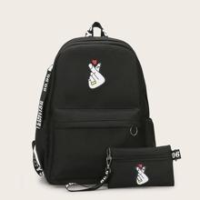 Rucksack mit Finger Muster und Unterarmtasche