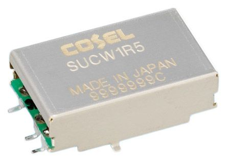 Cosel 1.56W Isolated DC-DC Converter Surface Mount, Voltage in 4.5 → 9 V dc, Voltage out ±12V dc