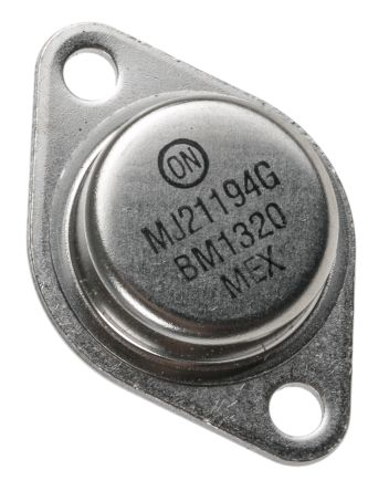 ON Semiconductor ON Semi MJ21194G NPN Transistor, 16 A, 250 V, 3-Pin TO-204