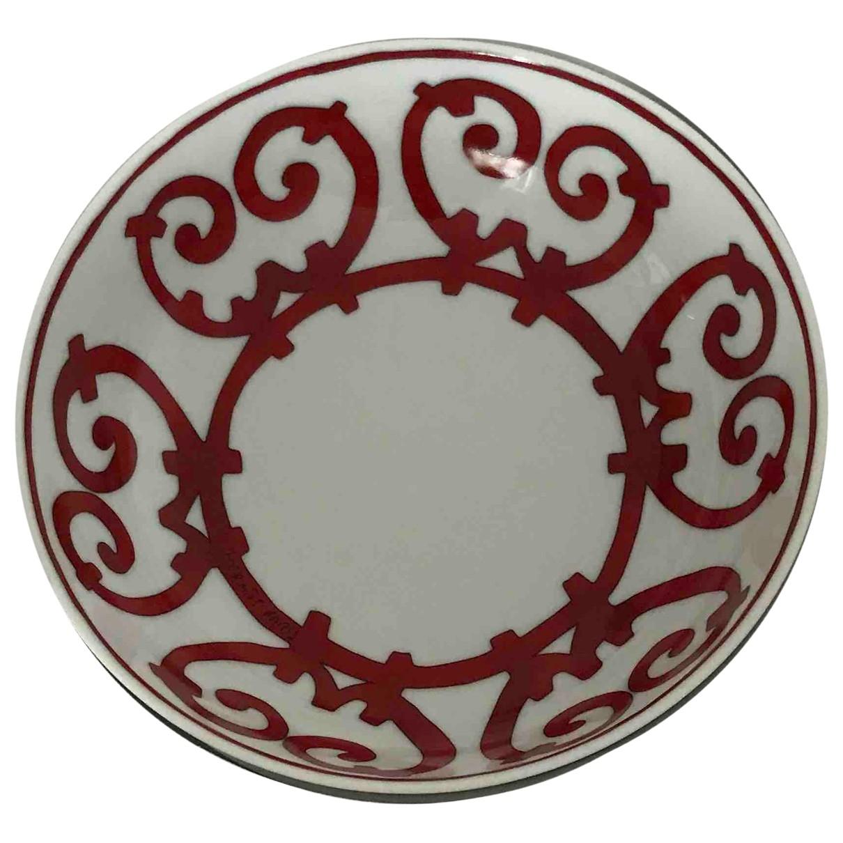 Hermes - Arts de la table Balcon du Guadalquivir pour lifestyle en porcelaine - rouge