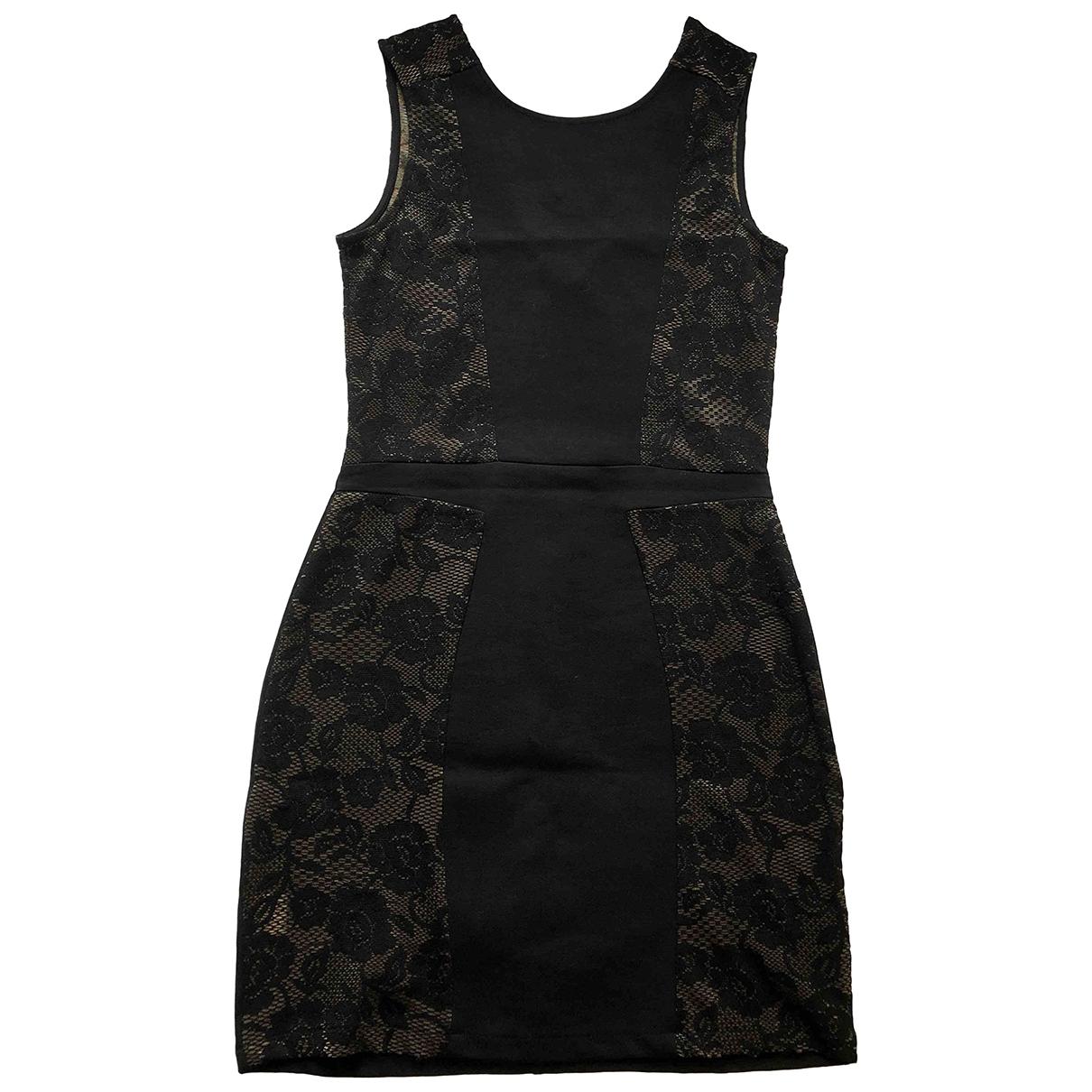 Mango \N Kleid in  Schwarz Polyester