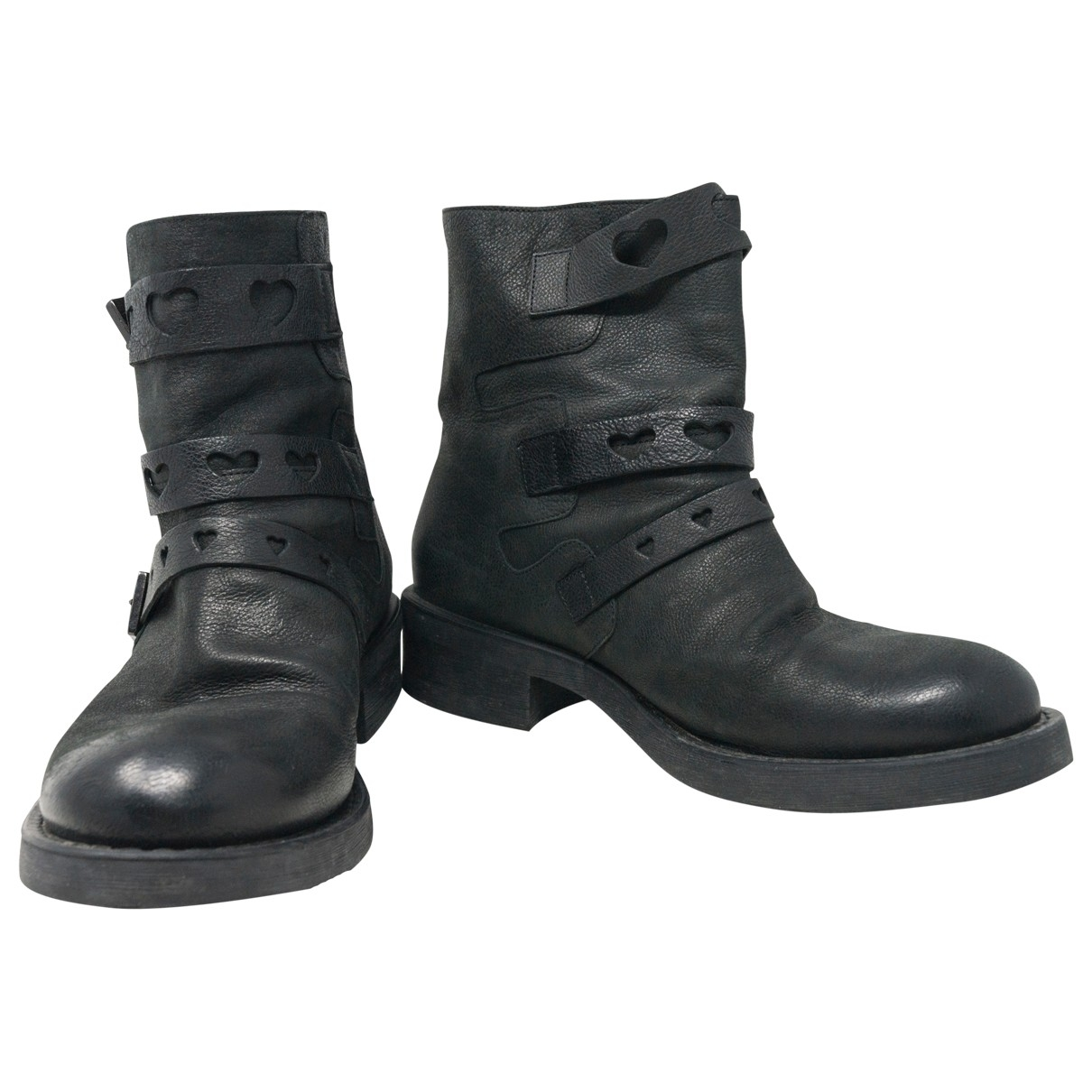 Twin Set \N Black Leather Ankle boots for Women 40 IT