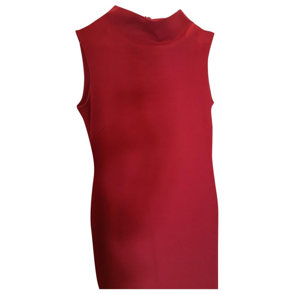 Strenesse \N Kleid in  Bordeauxrot Viskose