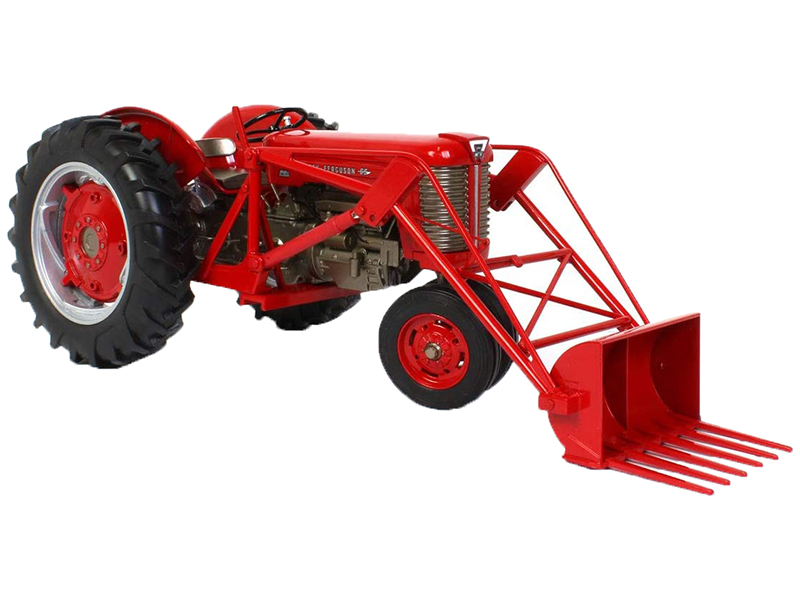 Massey Ferguson 65 Narrow Front Diesel Tractor with Loader Red Classic Series 1/16 Diecast Model by SpecCast