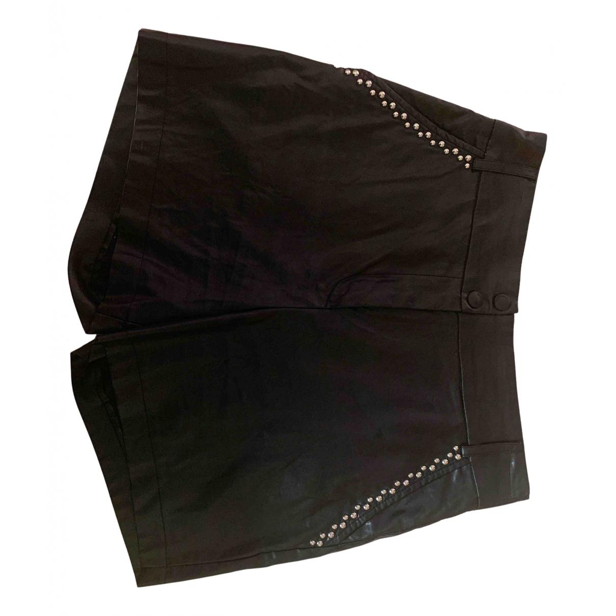 Imperial \N Shorts in  Schwarz Leder