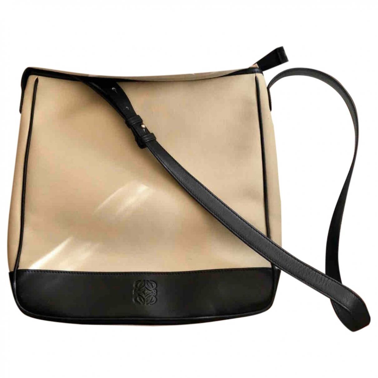 Loewe \N Handtasche in  Beige Leinen