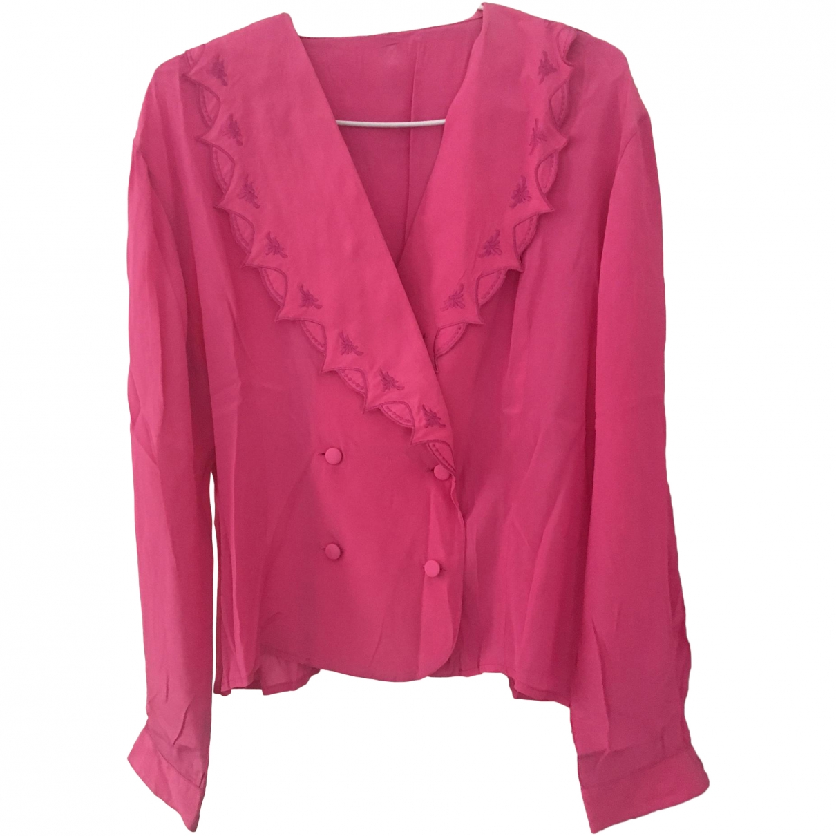 Non Signé / Unsigned \N Pink Silk  top for Women 40 FR