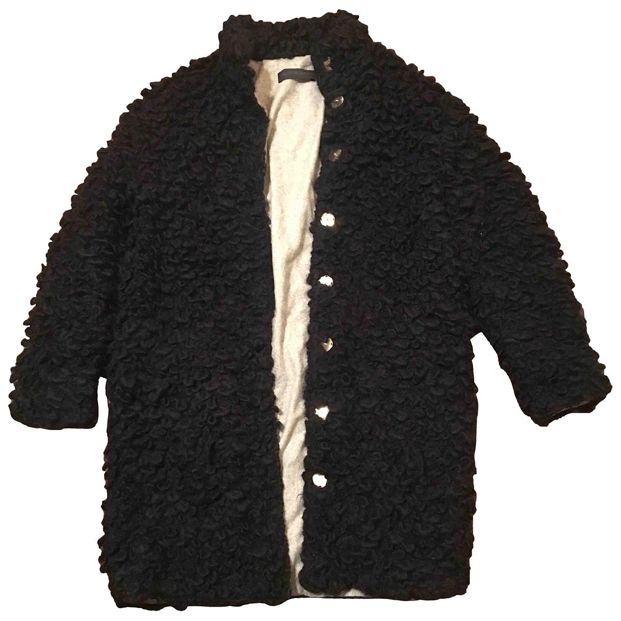 Trussardi \N Maentel in  Schwarz Wolle