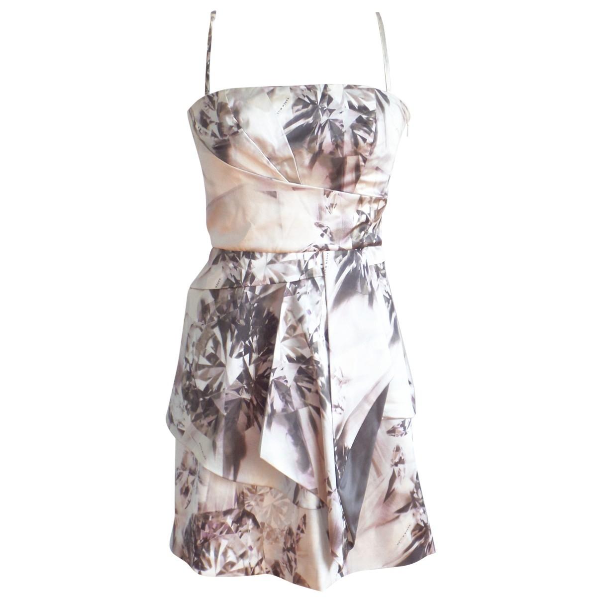 Karen Millen \N Multicolour Silk dress for Women 8 UK