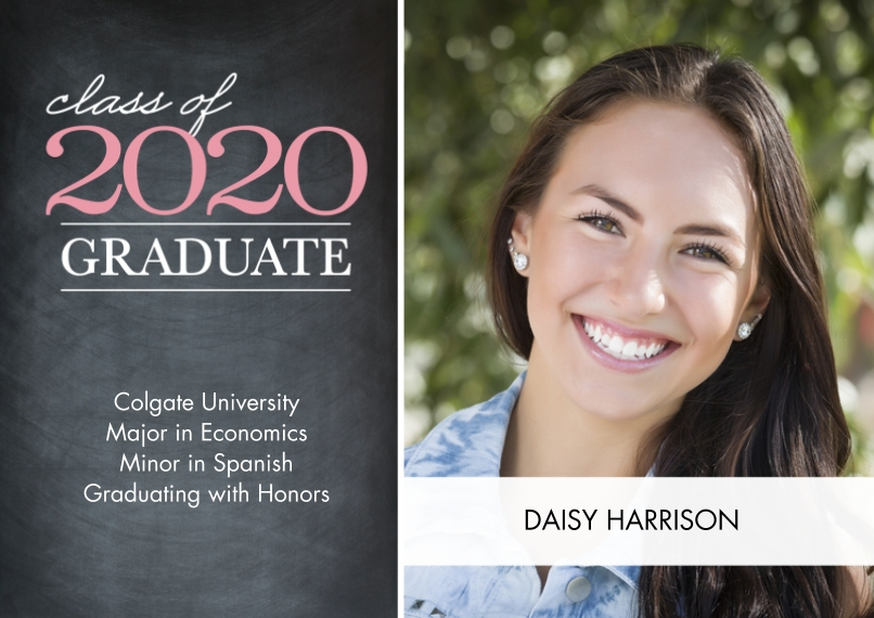 2020 Graduation Announcements 5x7 Cards, Premium Cardstock 120lb with Elegant Corners, Card & Stationery -Graduate Class of 2020 Overlay by Tumbalina