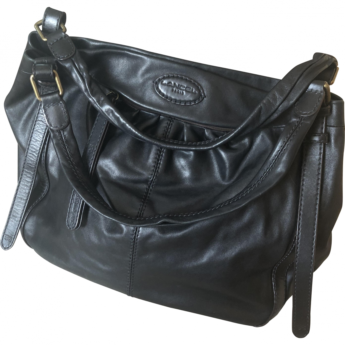 Lancel \N Black Leather handbag for Women \N