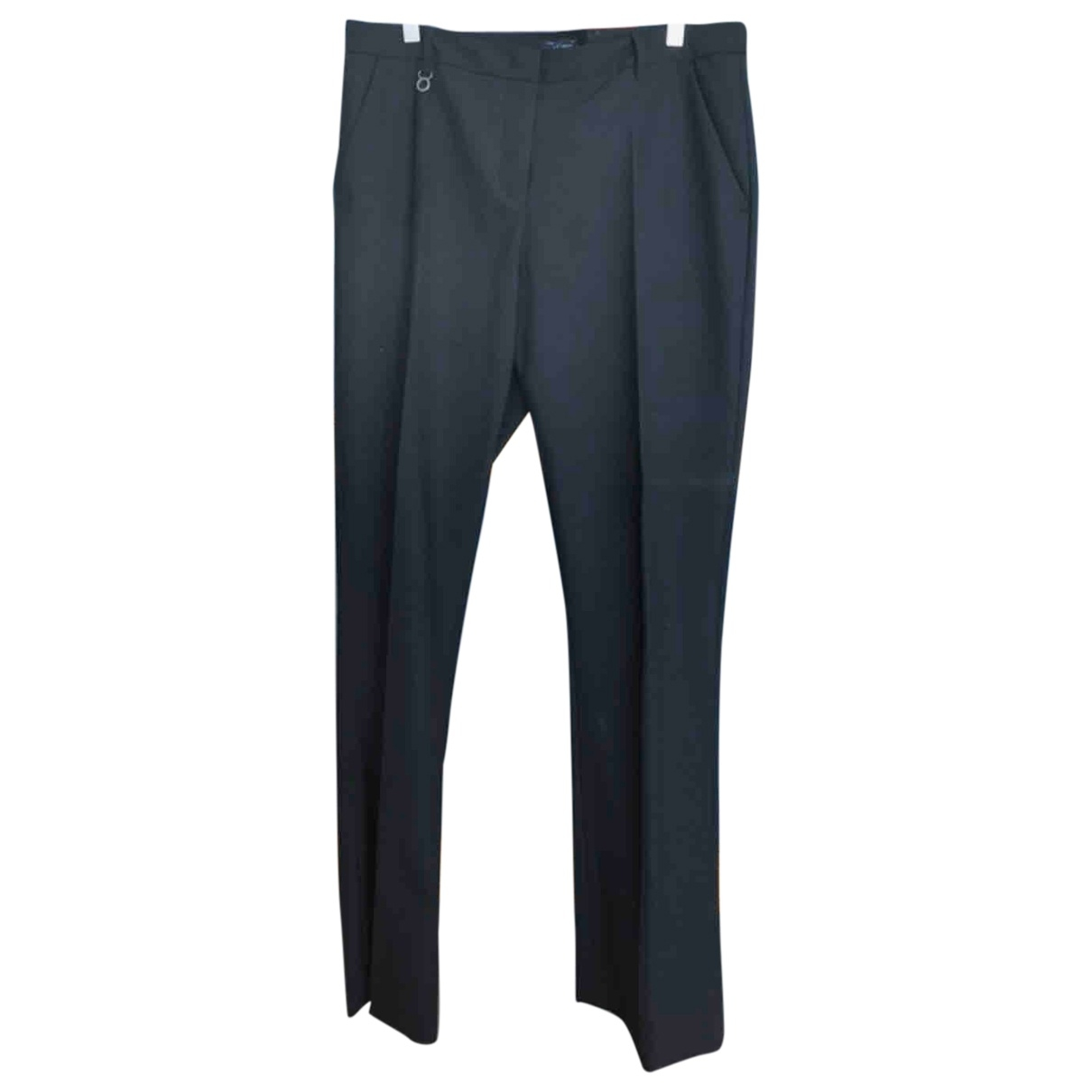 Armani Jeans \N Black Trousers for Women 48 IT