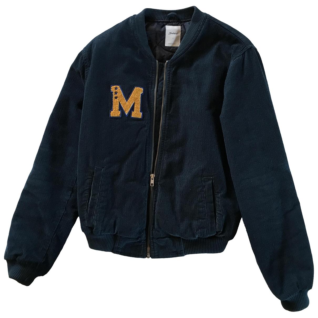 Non Signé / Unsigned \N Blue Velvet jacket for Women 34 FR