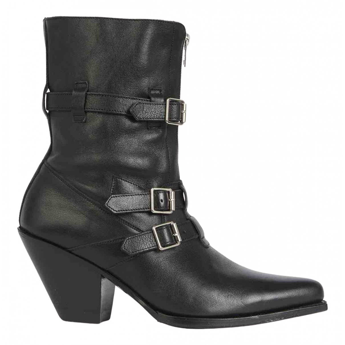 Celine Berlin Black Leather Ankle boots for Women 37 EU