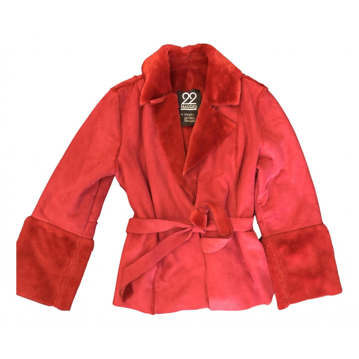 Maria Grazia Severi N Red coat for Women 46 IT