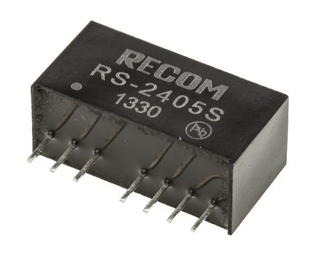 Recom RS 2W Isolated DC-DC Converter Through Hole, Voltage in 18 ? 36 V dc, Voltage out 5V dc