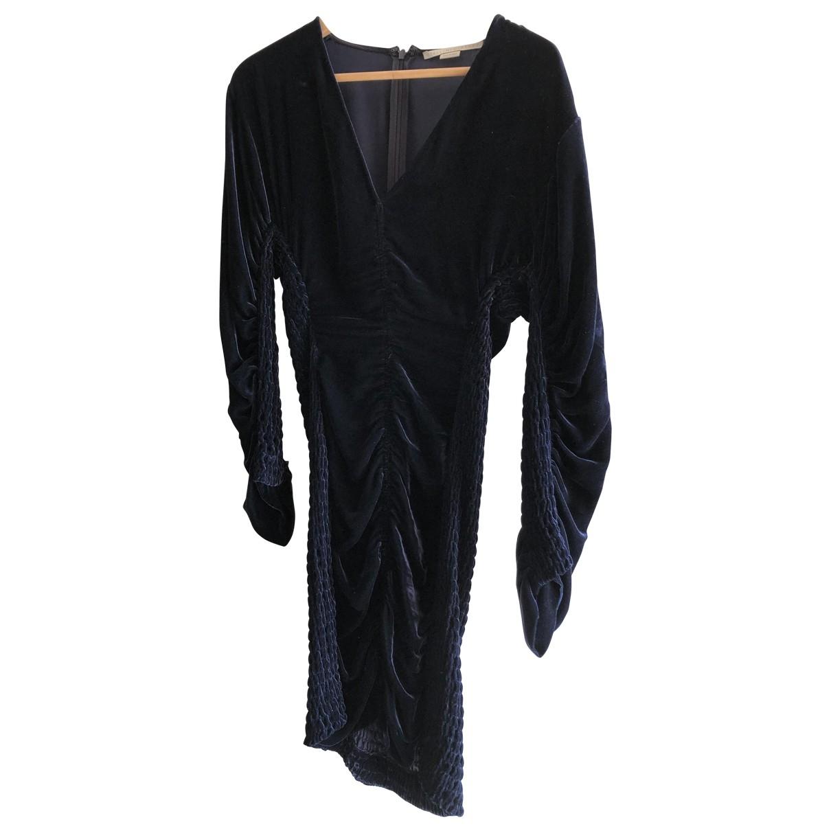 Stella Mccartney \N Kleid in  Blau Samt