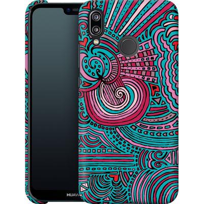 Huawei P20 Lite Smartphone Huelle - Drawing Meditation Turquoise von Kaitlyn Parker