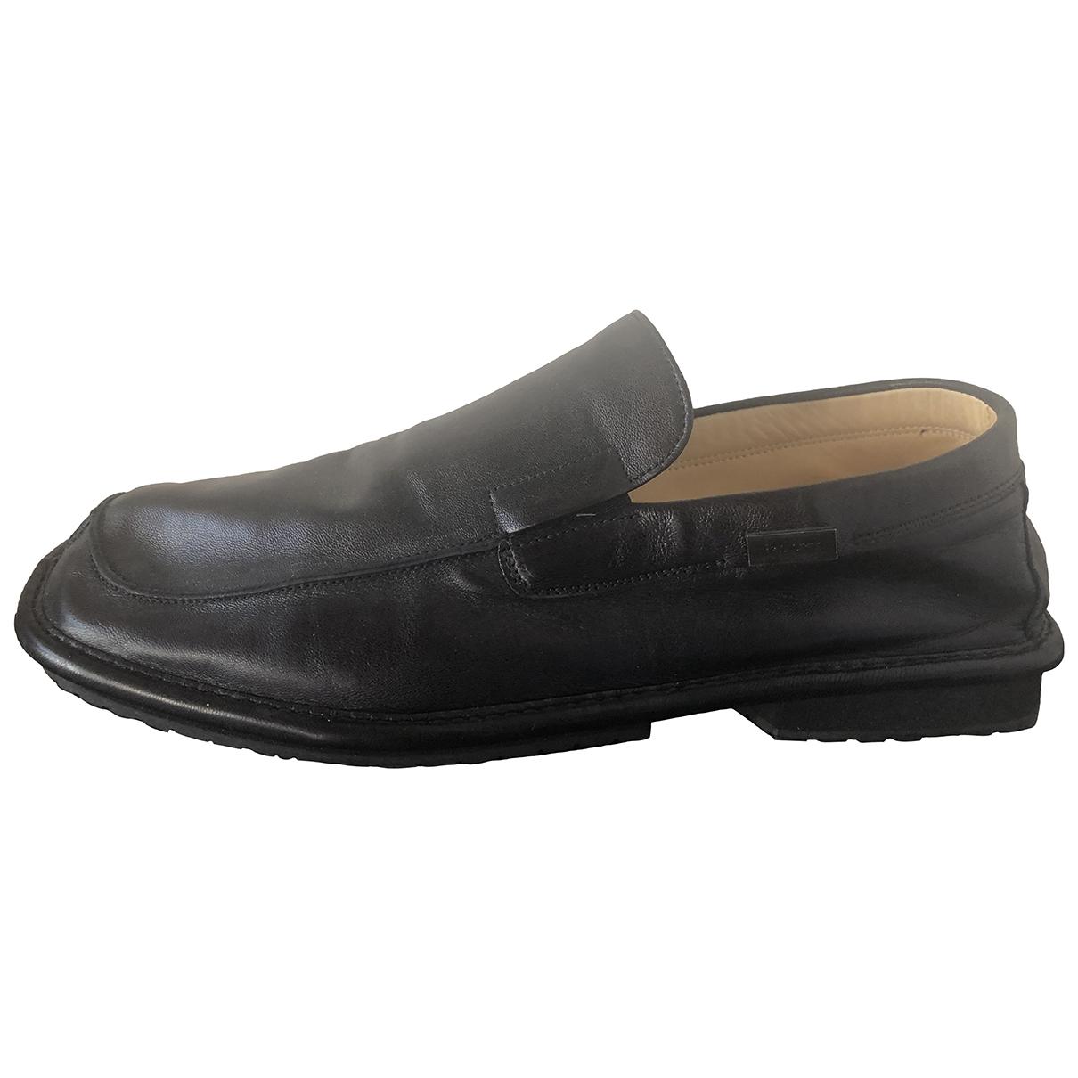 Cesare Paciotti \N Black Leather Flats for Men 8 UK