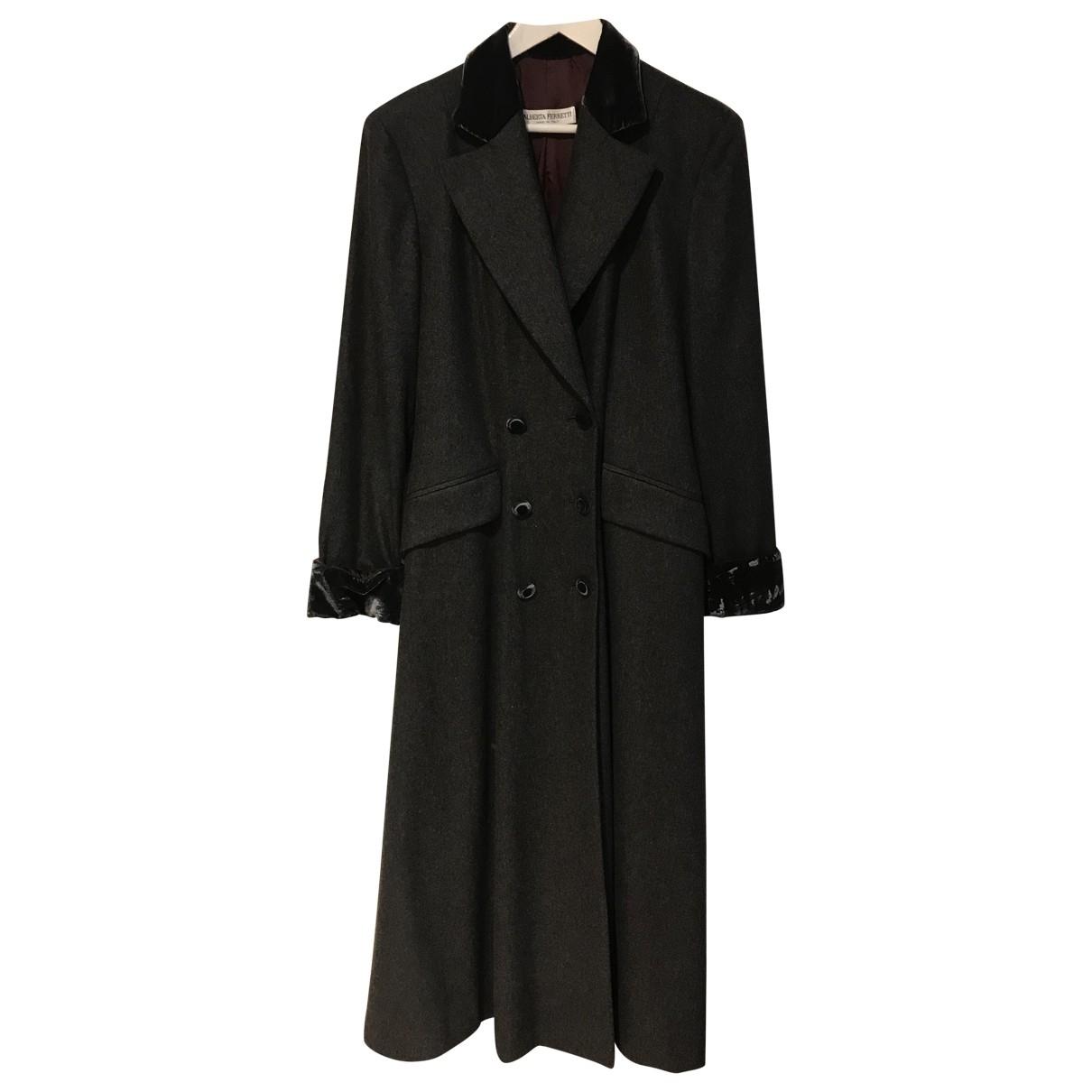 Alberta Ferretti - Manteau   pour femme en laine - multicolore