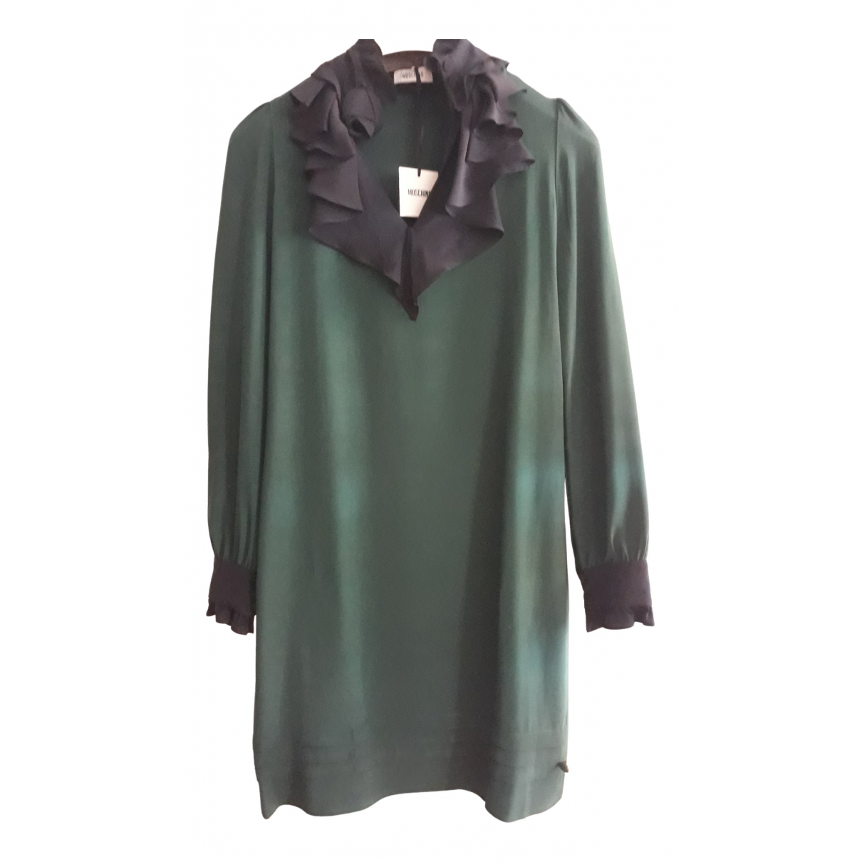 Moschino N Green Silk dress for Women XS International