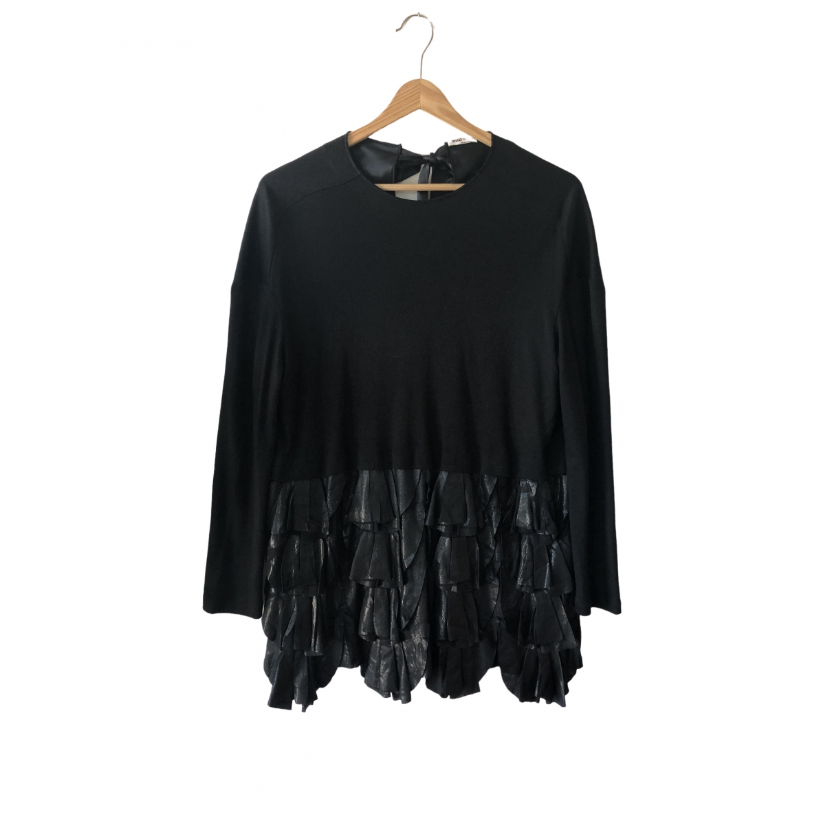Miu Miu \N Black Wool  top for Women XS International