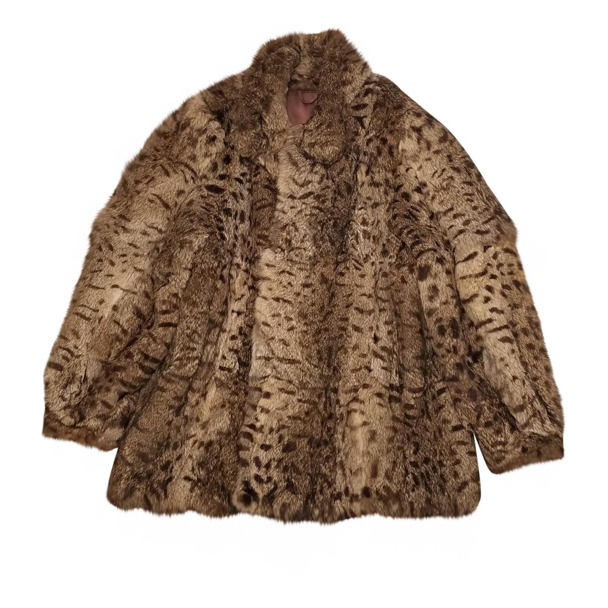 - Manteau   pour femme en lapin - multicolore
