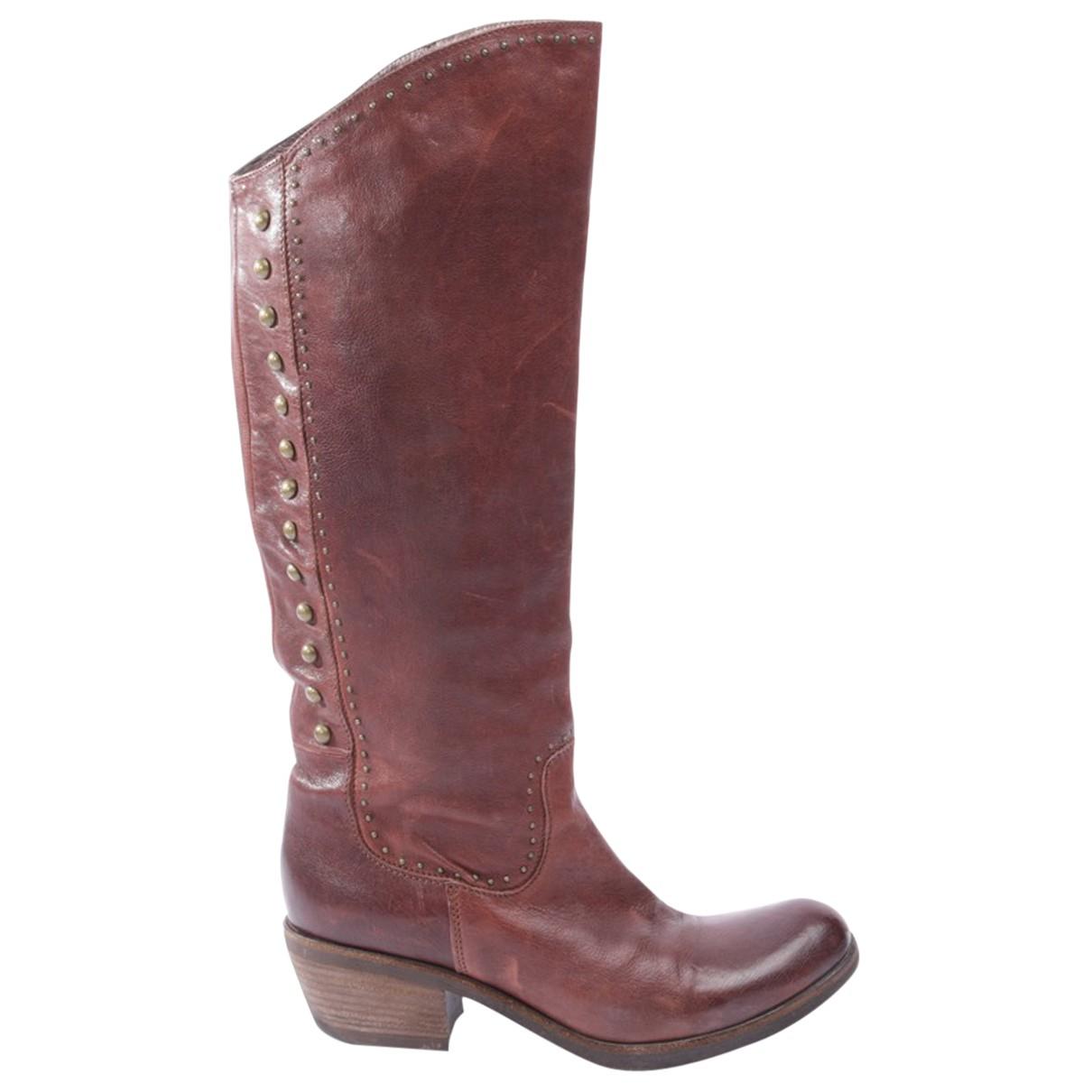 Vic Matie - Bottes   pour femme en cuir - marron