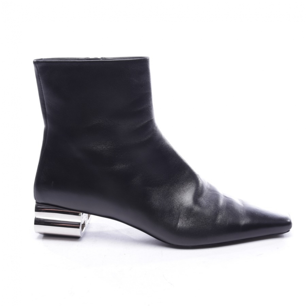 Balenciaga \N Black Leather Ankle boots for Women 41 EU