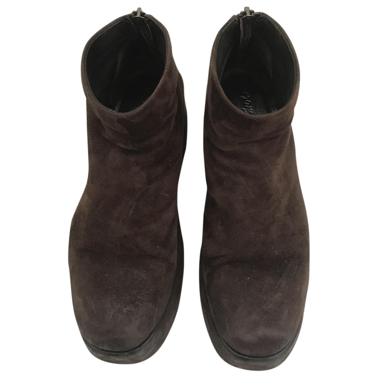 Marsell - Boots   pour femme en cuir - marron