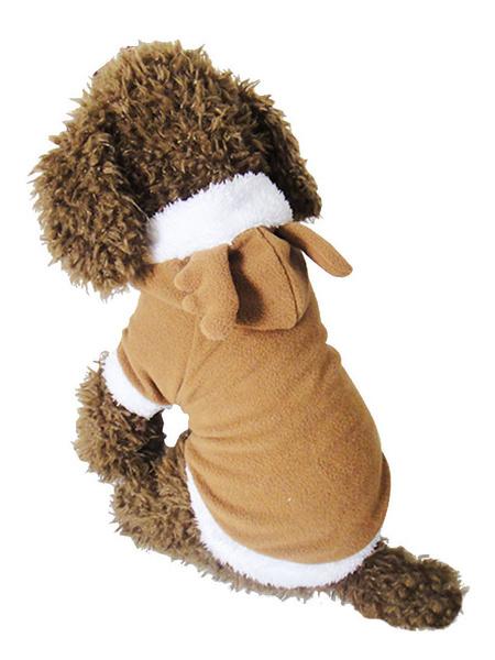 Milanoo Dog Christmas Costume Cat Dress Brown Pet Clothing