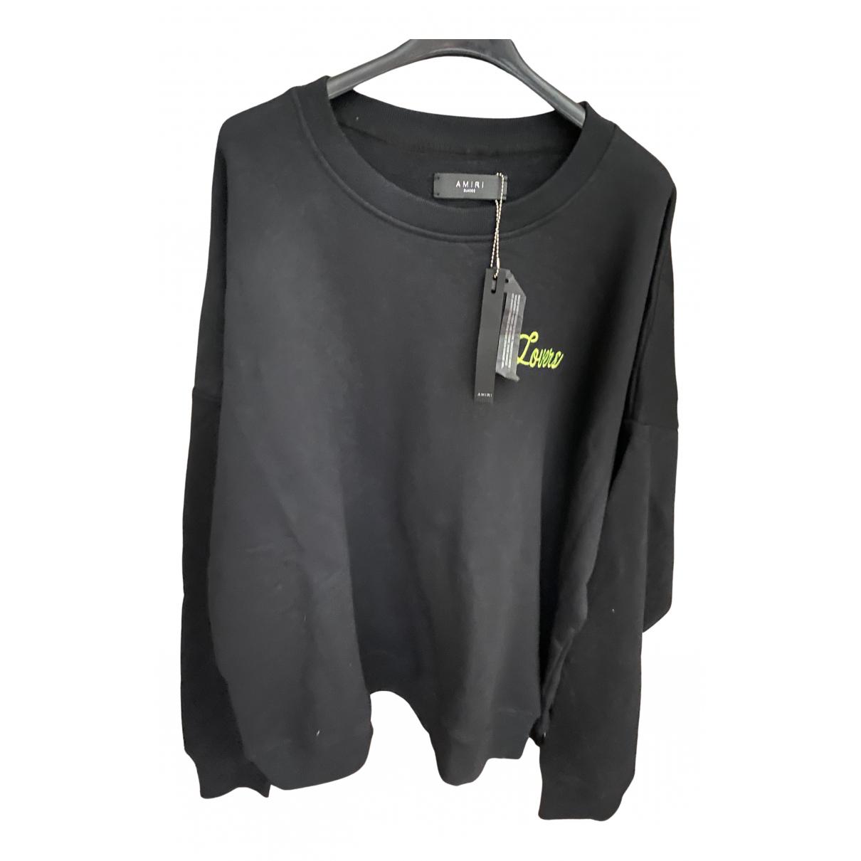 Amiri \N Pullover.Westen.Sweatshirts  in  Schwarz Baumwolle