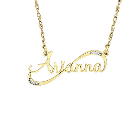 Womens Personalized Diamond Accent Pendant Necklace, One Size , No Color Family
