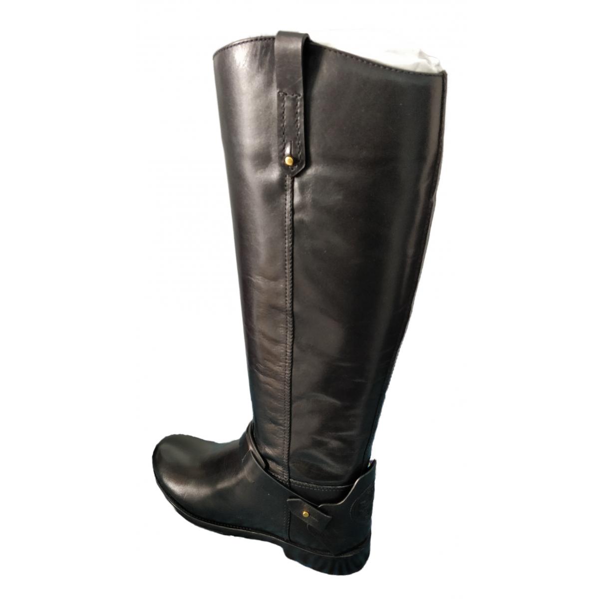 Tory Burch - Bottes   pour femme en cuir - noir