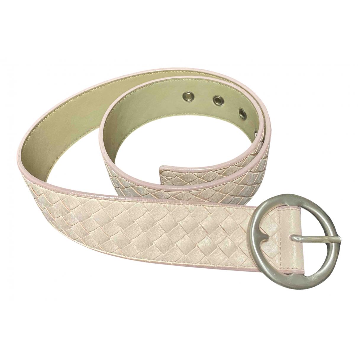 Bottega Veneta N Pink Leather belt for Women 90 cm