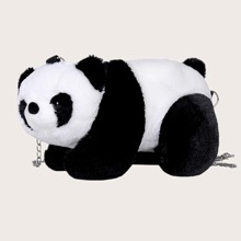 Fluffy Panda Chain Crossbody Bag