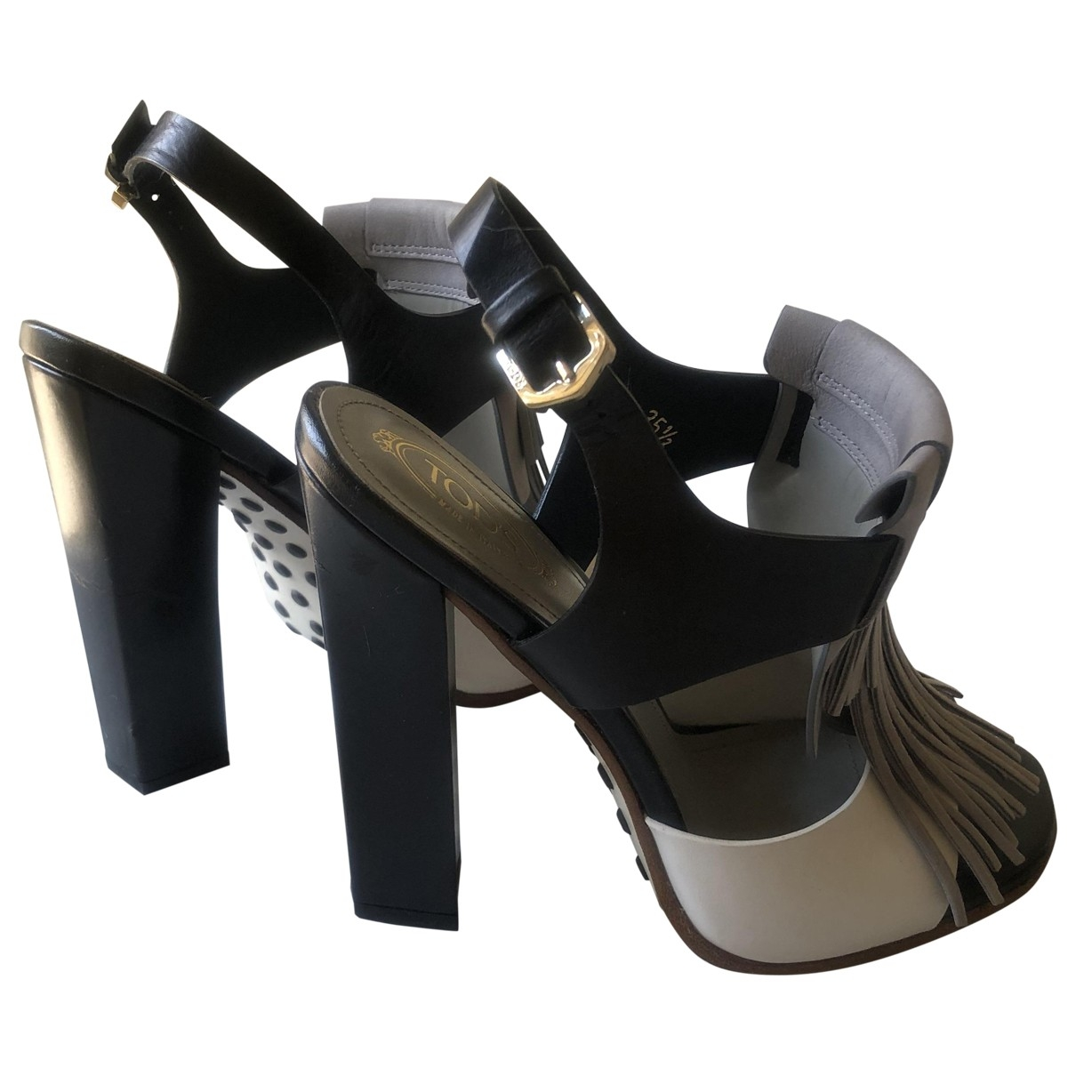 Tod's \N Black Leather Sandals for Women 35.5 EU