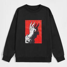 Guys Gesture Graphic Sweatshirt