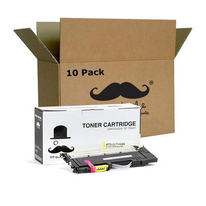 Compatible Samsung CLT-Y406S Yellow Toner Cartridge - Moustache - 10/Pack