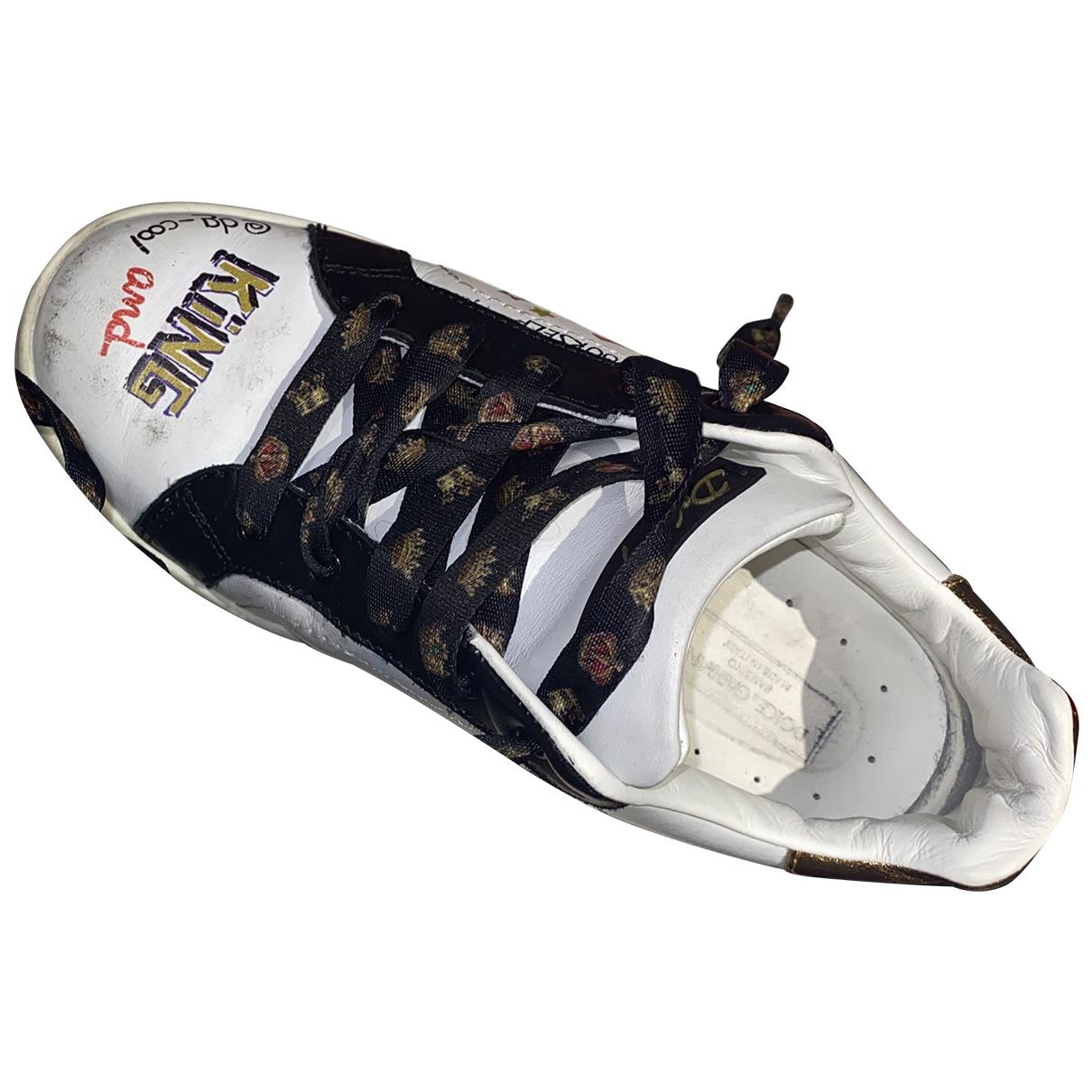 Dolce & Gabbana - Baskets   pour enfant en cuir - blanc