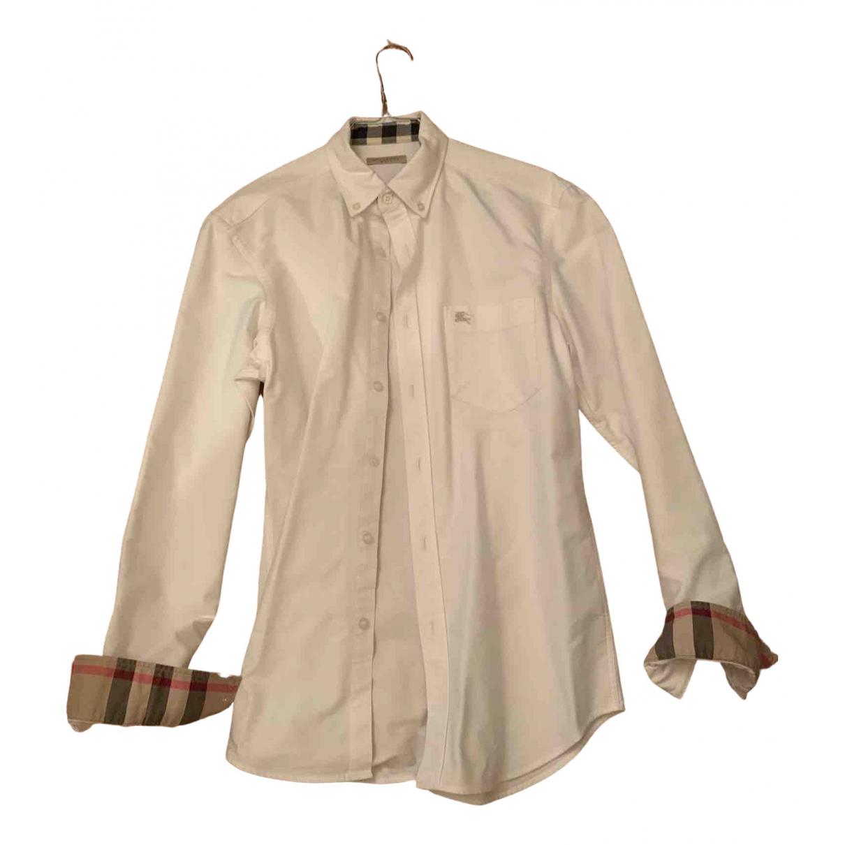 Burberry - Chemises   pour homme en coton - blanc