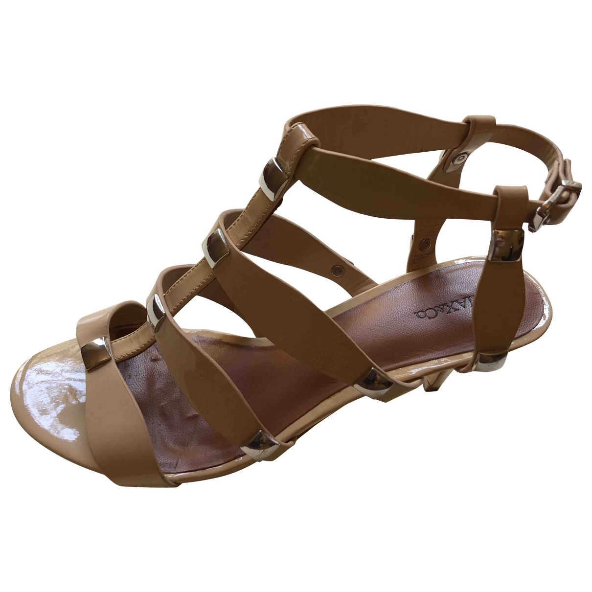 Max & Co \N Beige Patent leather Sandals for Women 37 EU