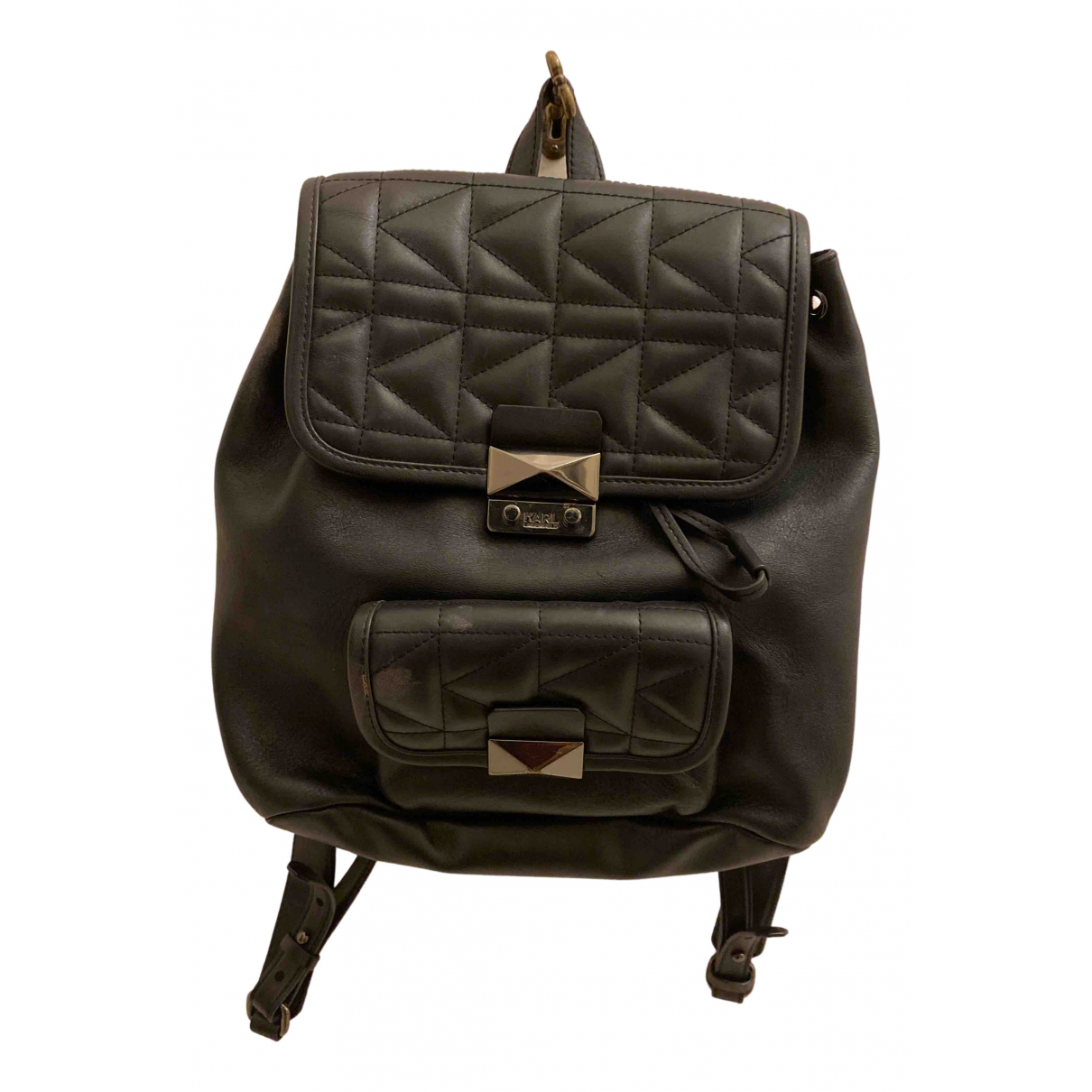 Karl Lagerfeld N Black Leather backpack for Women N