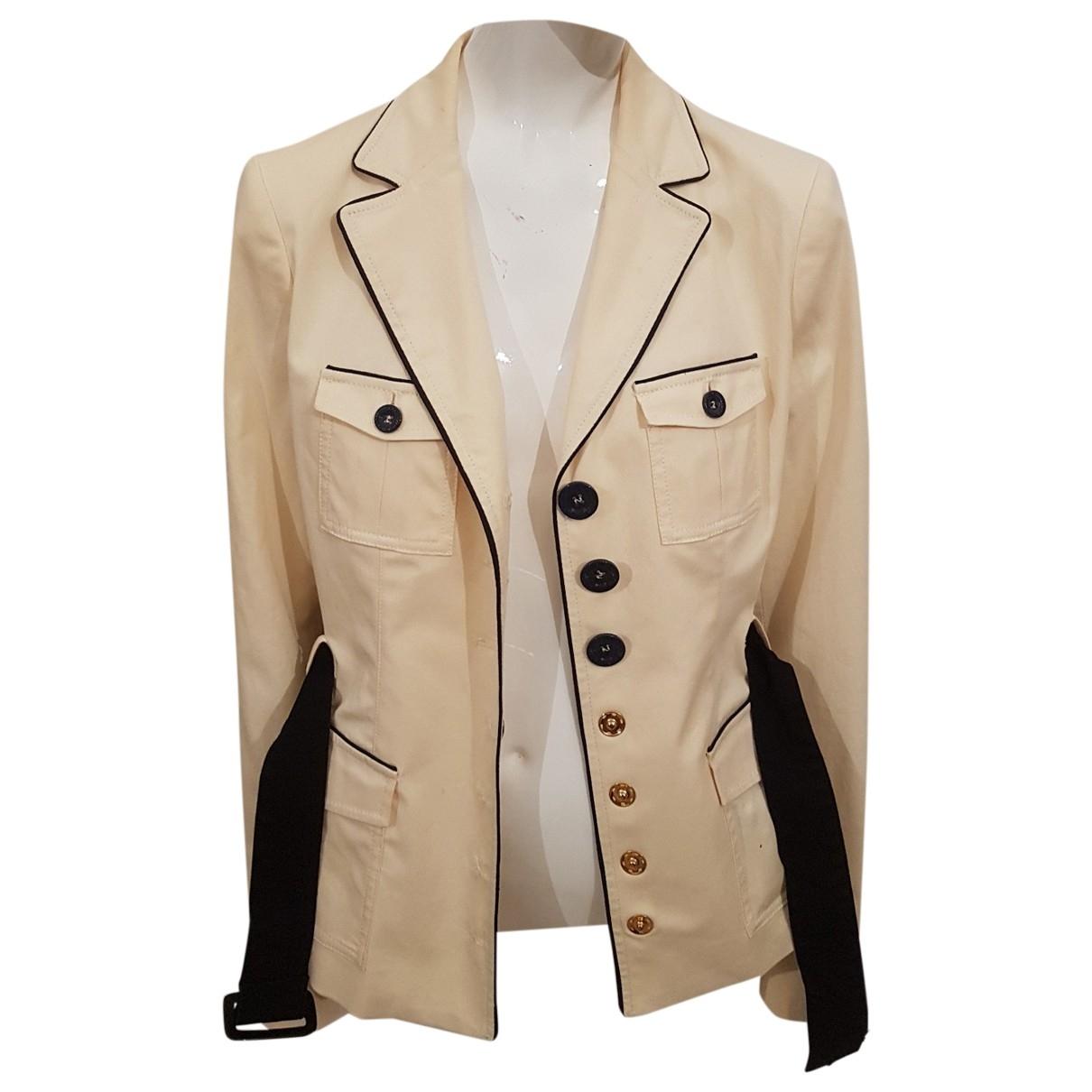 Moschino Love \N Beige Cotton jacket for Women 46 IT