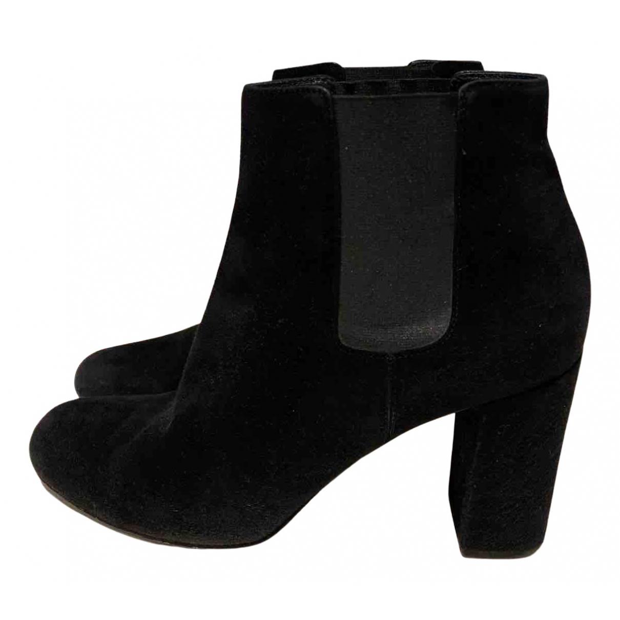 Saint Laurent N Black Suede Boots for Women 41 EU