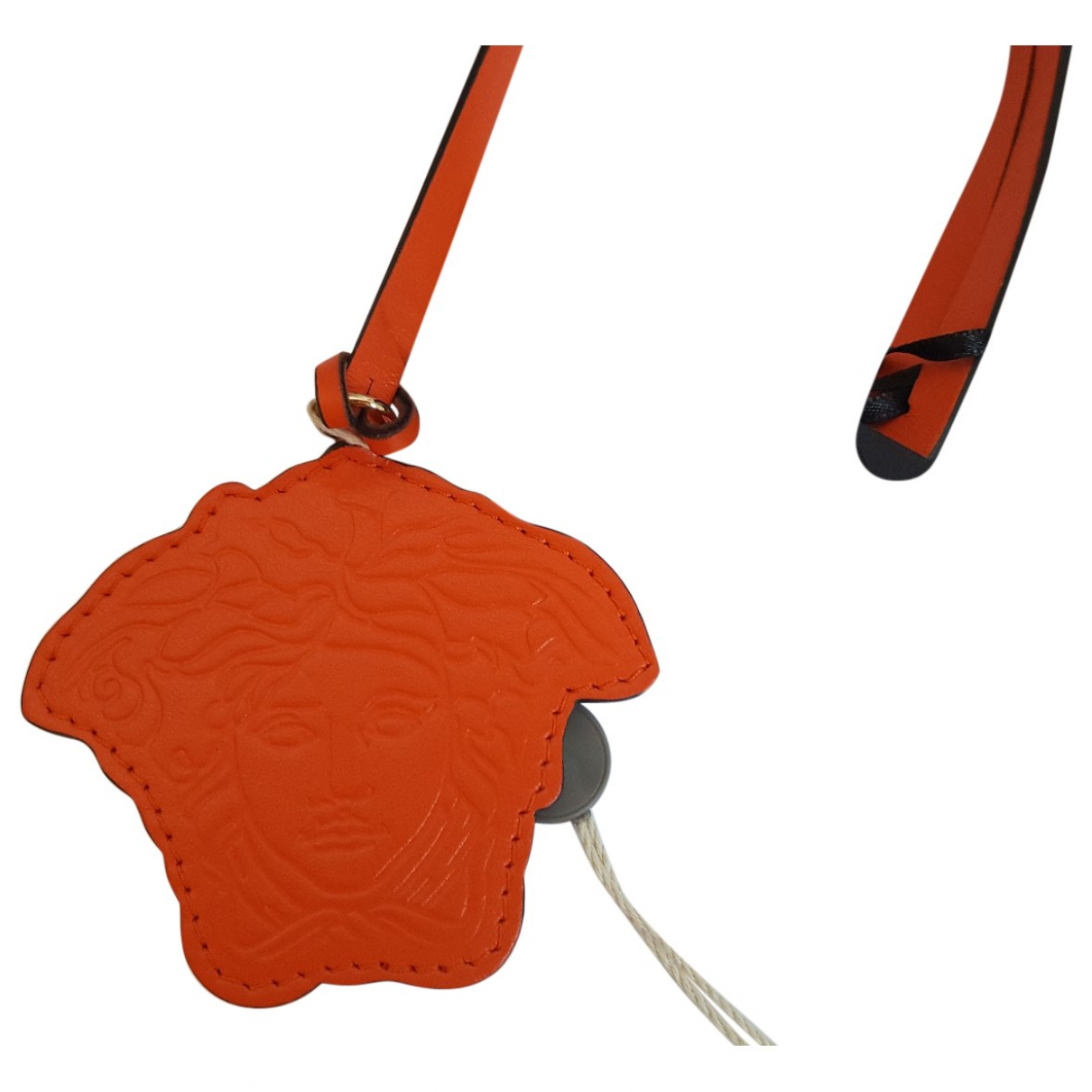 Versace \N Kleinlederwaren in  Orange Leder